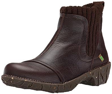 New Style El Naturalista Yggdrasil NE23 Womens Brown Pull Grain boots Qa98r NKS