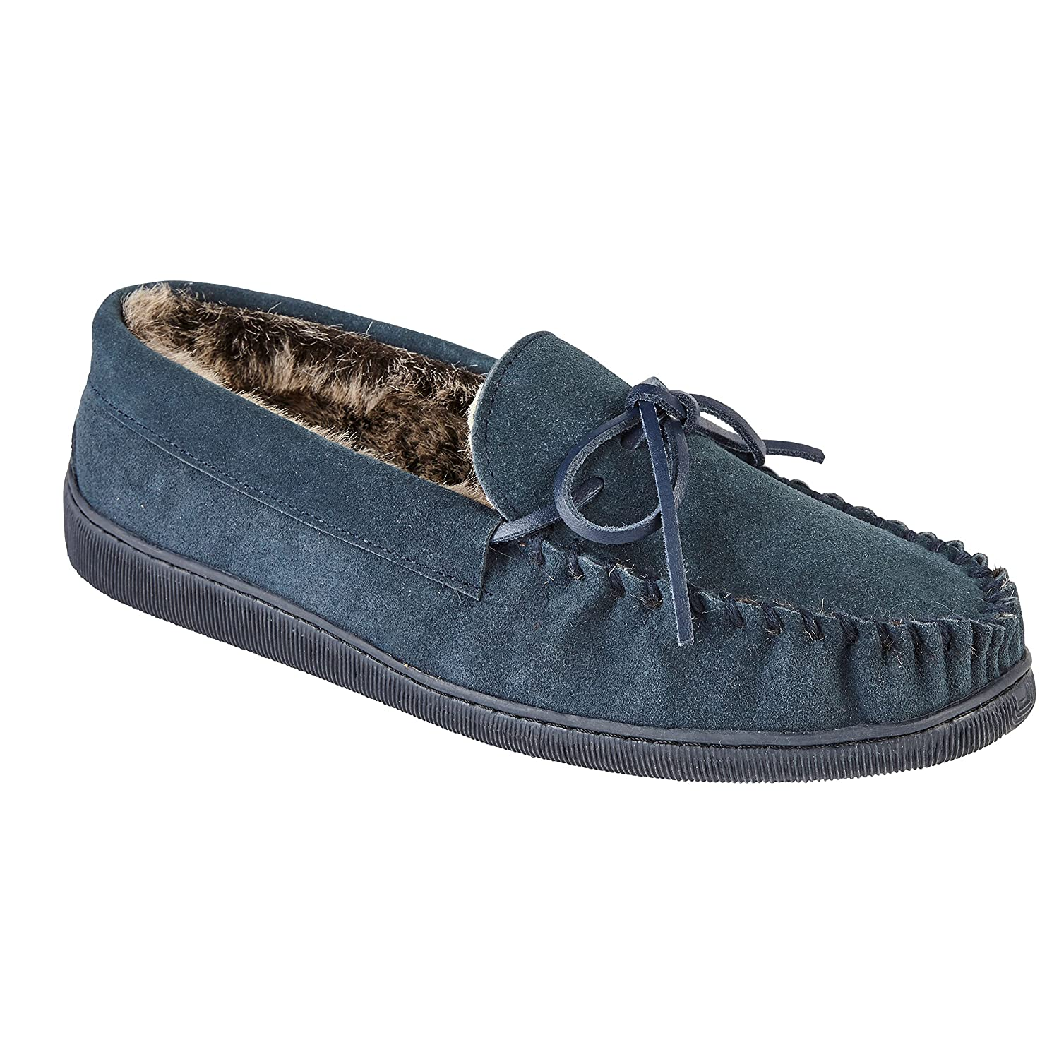 Fashion by Purdashian Boxed Quality Mens Gents England Real Suede Slip On Moccasin Slippers Loafers