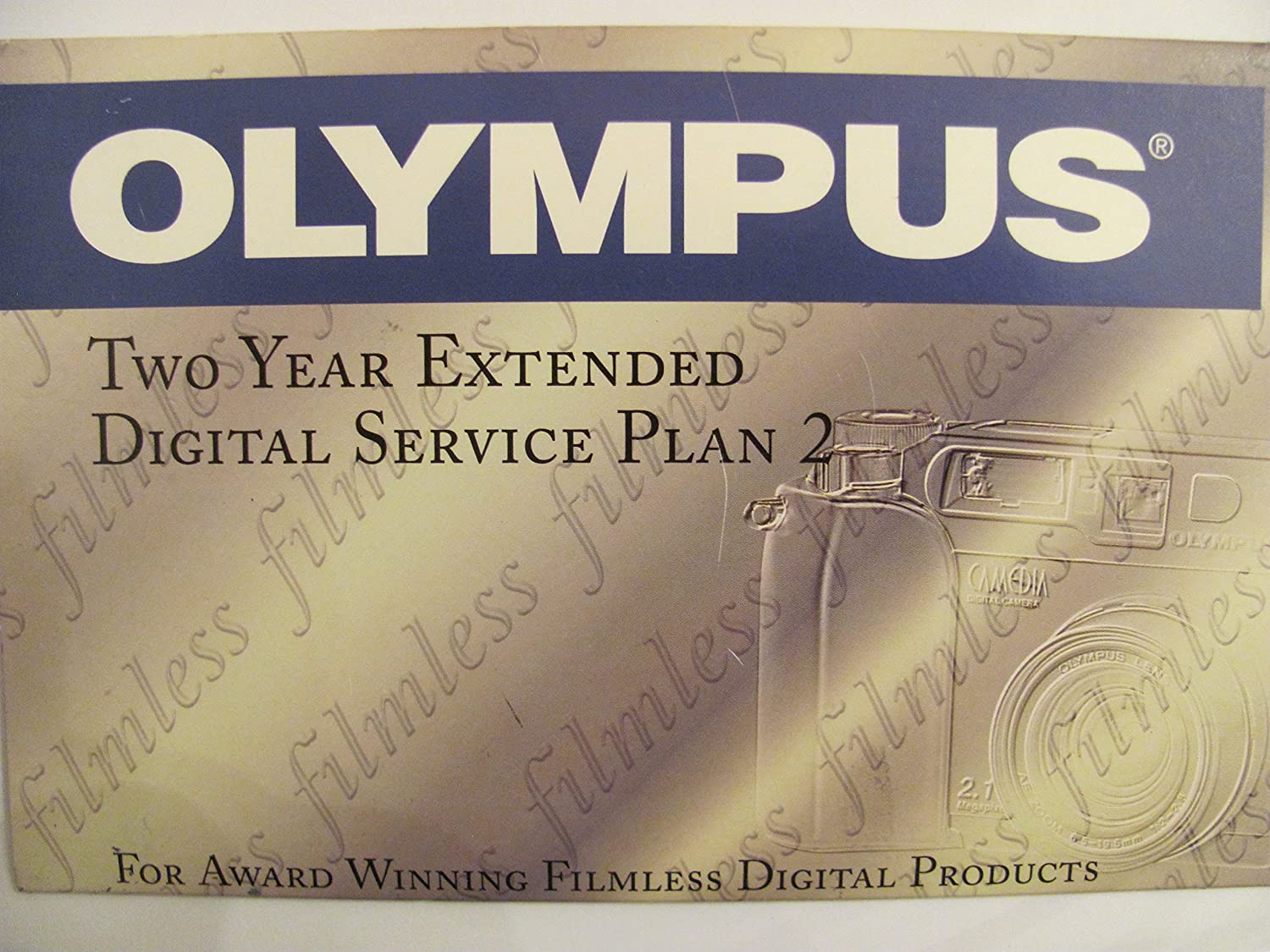 Olympus Two Year Extended Digital Service Plan 2