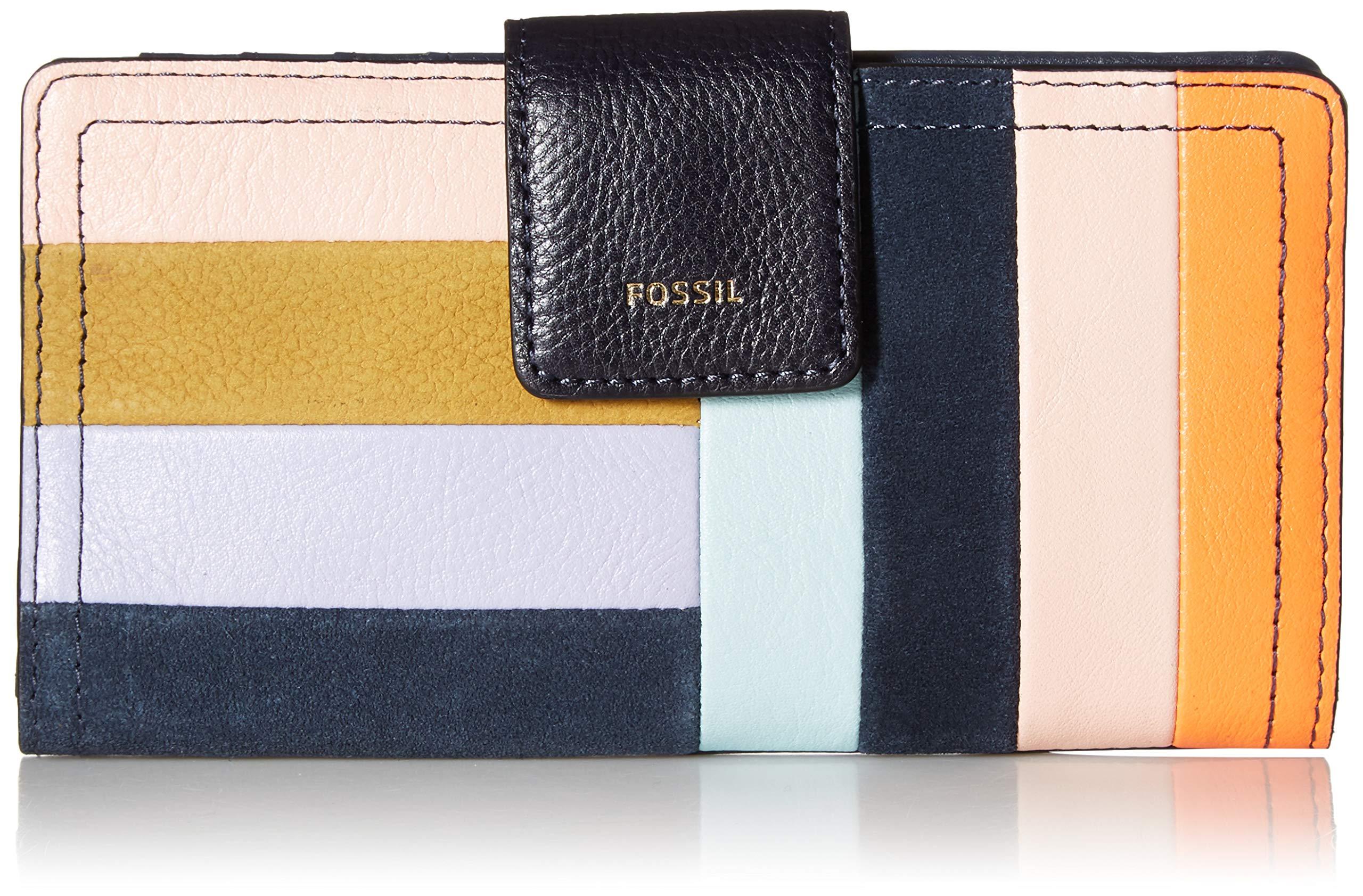 Fossil Logan RFID Tab Wallet, Bright patchwork