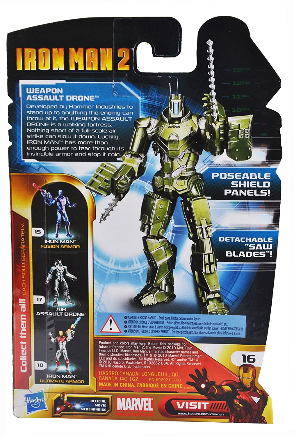 Iron Man 2 Concept Series 4 Inch Action Figure Weapon Assault Drone Hasbro 94176