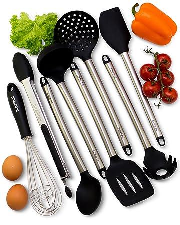 Superb Kitchen Utensils   8 Piece Cooking Utensils   Nonstick Utensil Set    Silicone And Stainless Steel