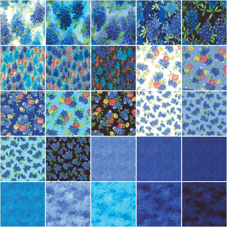Moda Fabrics Fields of Blue Jelly Roll