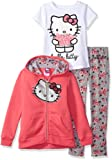 Amazon Price History for:Hello Kitty Girls' 3 Piece Zip up Hoodie Legging Set with T-Shirt and Printed Leggings