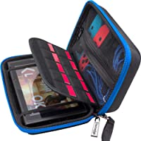 Butterfox Nintendo Switch Hard Carry Case with 10 Game Cartridge Holders - Blue/Black