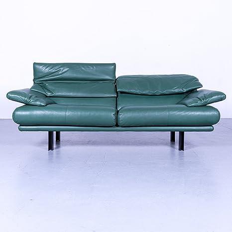 B & B Italia alanda Designer Divano in pelle turchese blu divano a ...