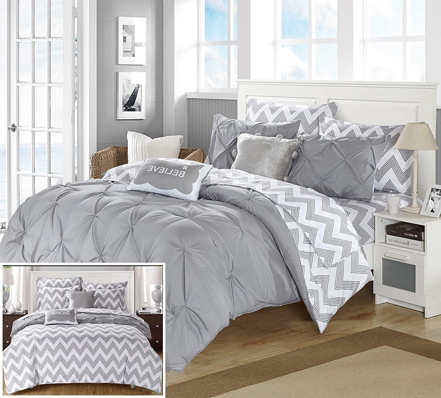 chandler chic pin bed print set design a ikat in striped home comforter piece backing solid