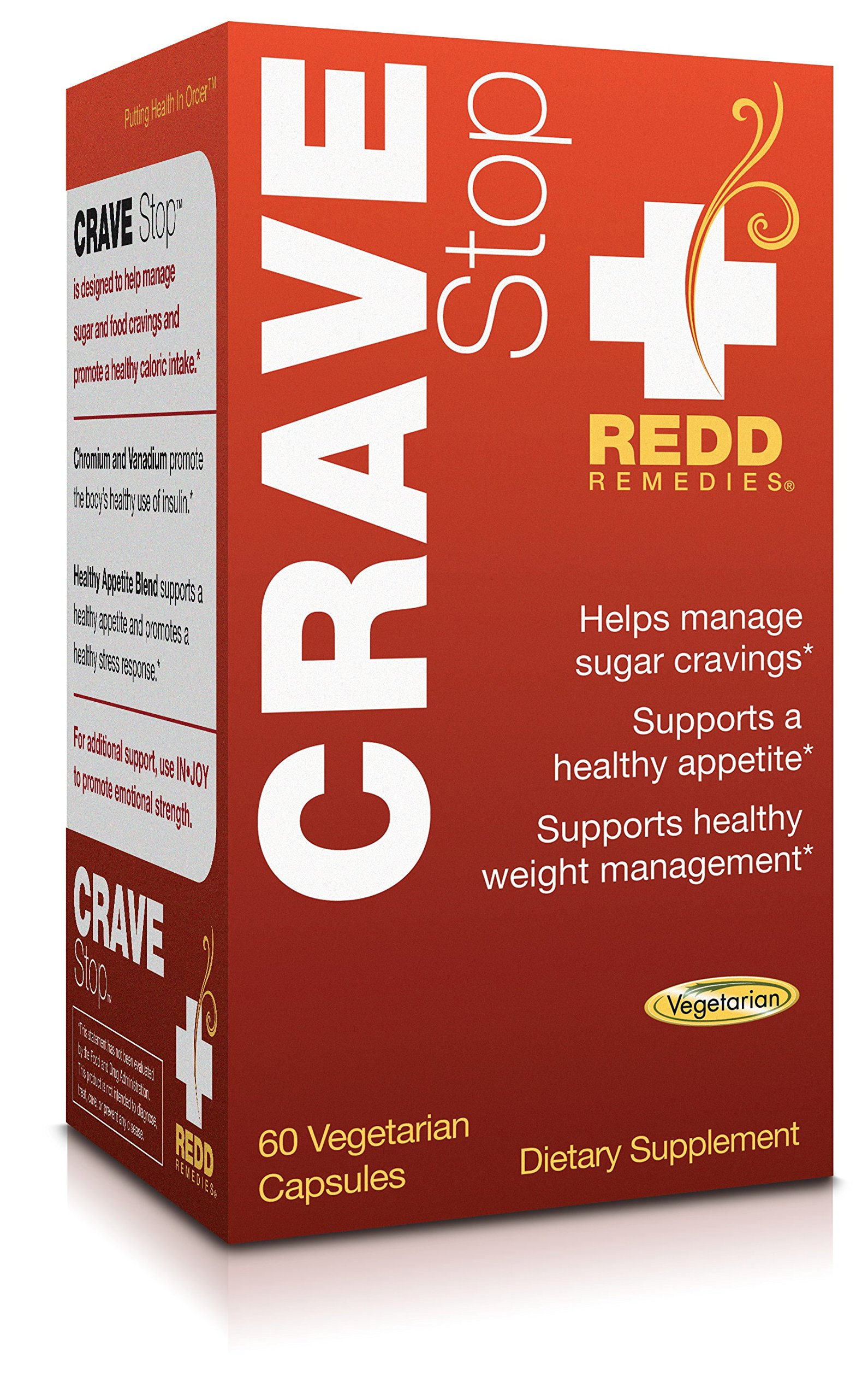 Redd Remedies - Crave Stop, Supports Healthy Appetite Control, 60 Count