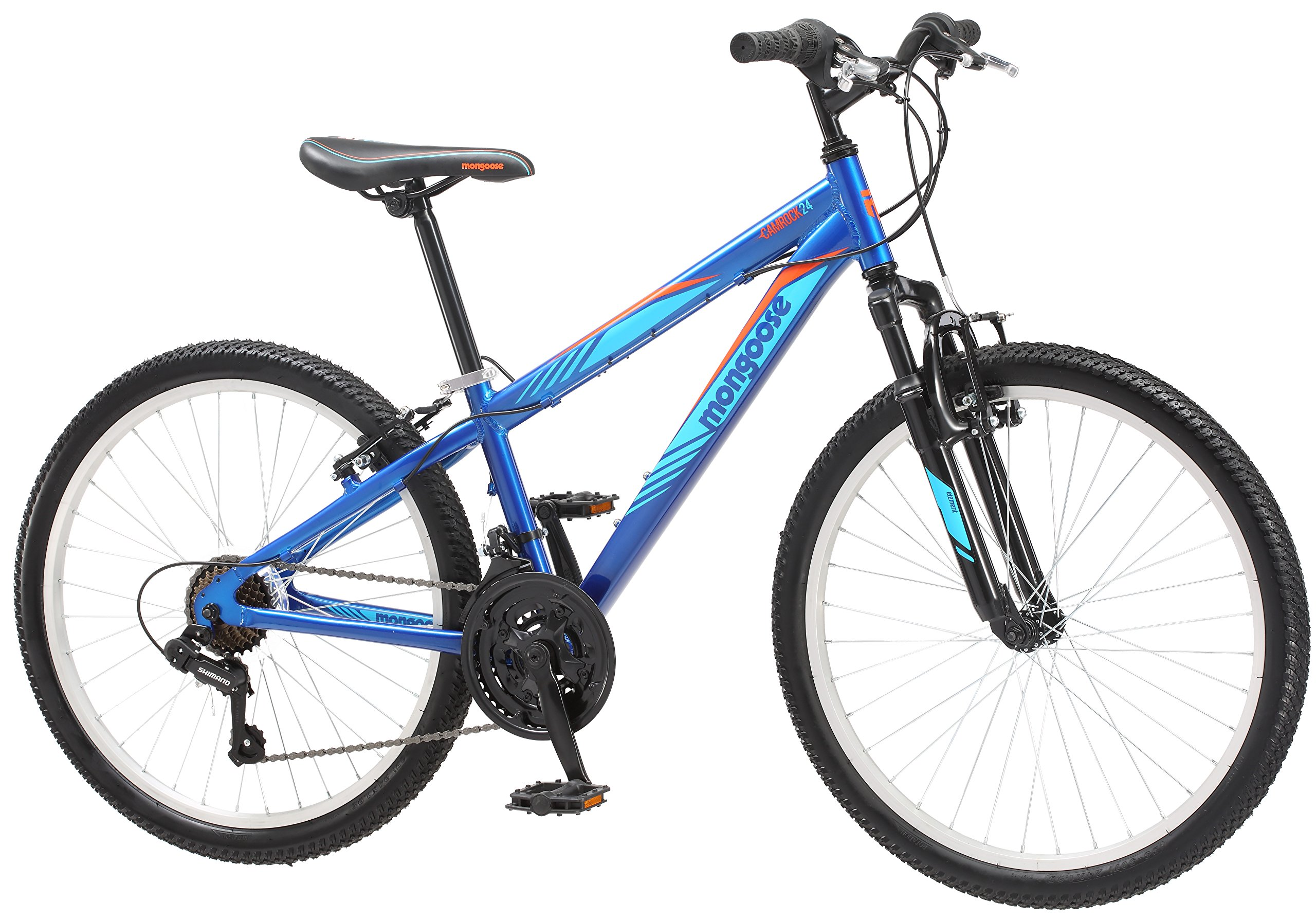 Mongoose Camrock 24'' Wheel Mountain Bicycle, Blue, One Size by Mongoose (Image #2)