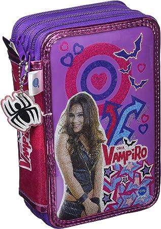 Chica Vampiro- Estuche Triple con Kit Completo de papelería (Cife Spain 41501): Amazon.es: Juguetes y juegos