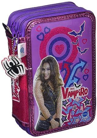 Chica Vampiro- Estuche Triple con Kit Completo de papelería (Cife Spain 41501)