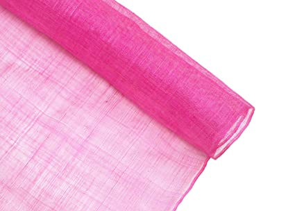Amazon.com  Stiffened Sinamay Millinery Fabric - Hot Pink - 1 Meter ... fac8c3a7ea6