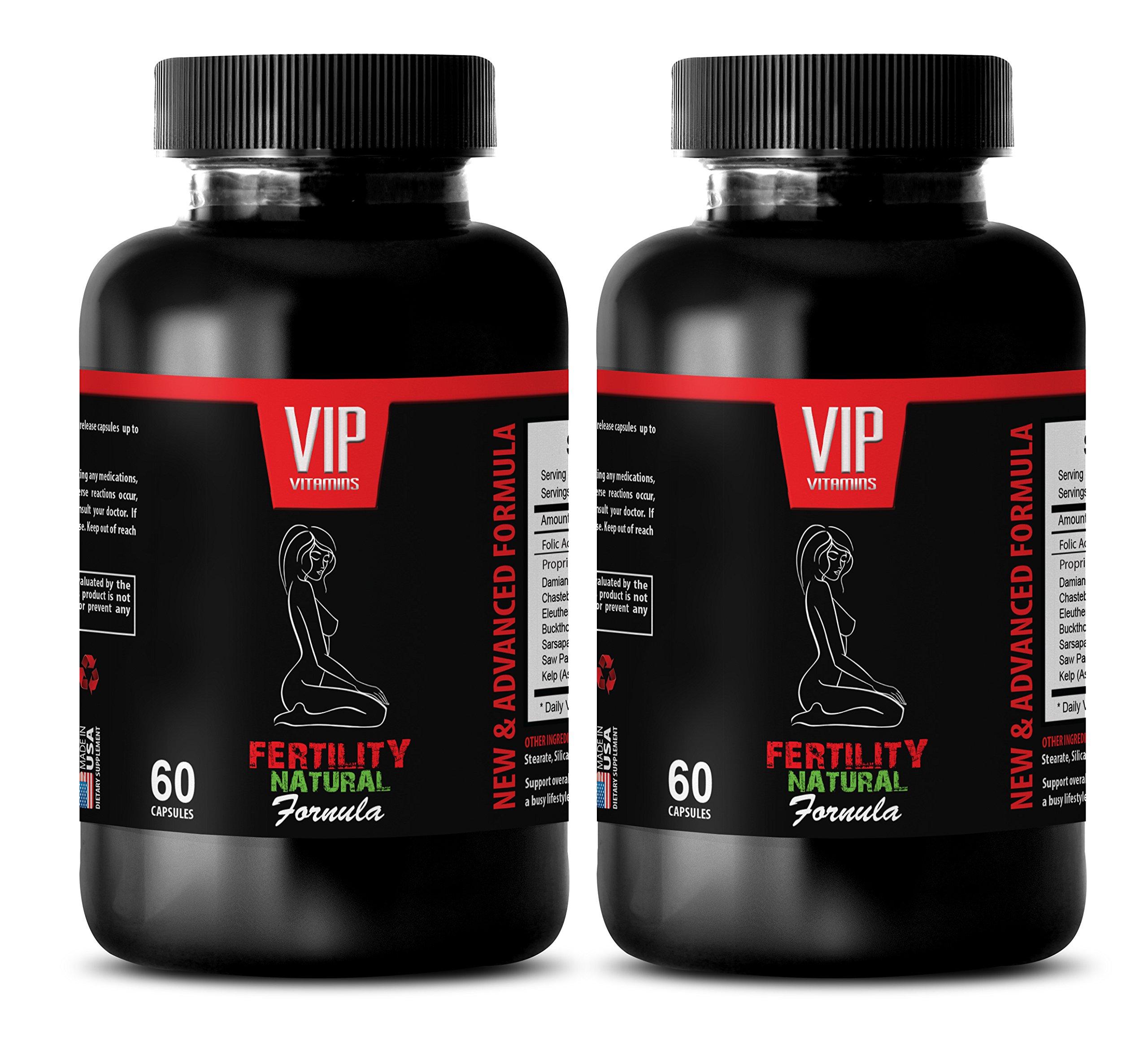 increase sexual desire for women - FERTILITY NATURAL FORMULA - damiana bulk supplements - 2 Bottles 120 Capsules