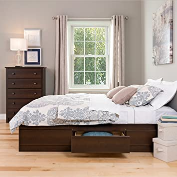 twin platform bed with drawers plans and bookcase headboard uk espresso queen mate storage