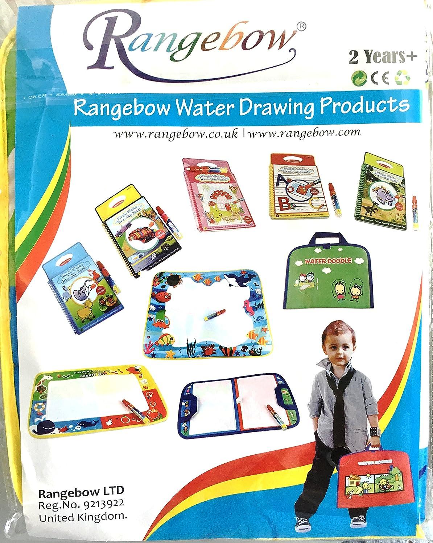 Rangebow Echte UK The Undersea World Geschenk Box 60X49cm Magic Multicolor Wasser Matte mit 1 Magic Pen Geschenk Boxed Zeichnung Mat Wasser zeichnen