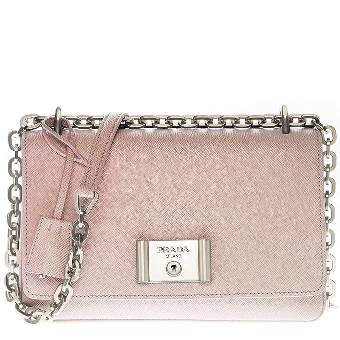 6c4d4c641fb6a1 Image Unavailable. Image not available for. Color: Prada Women's Saffiano  Lux Shoulder Bag Nude Pink