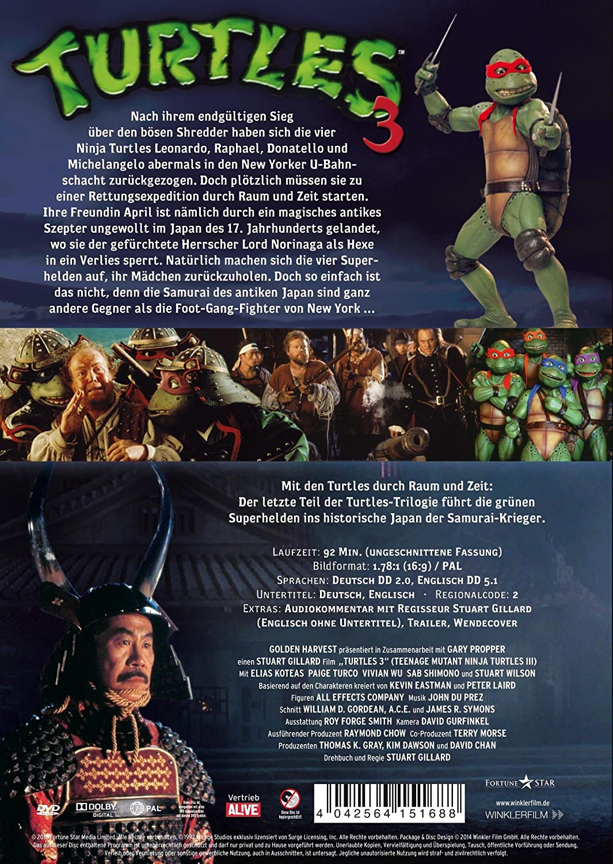 Turtles 3 - Ninja Turtles [Alemania] [DVD]: Amazon.es: Elias ...