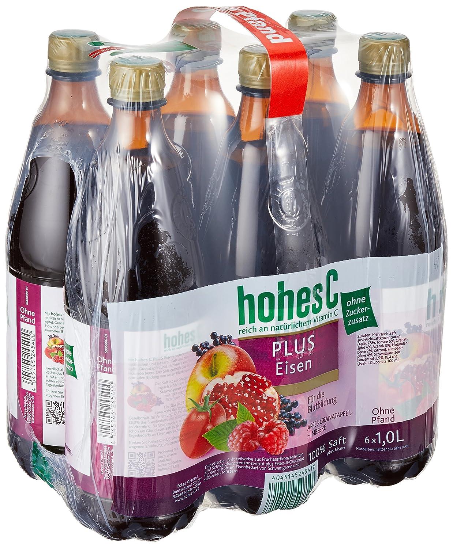 Hohes C Plus Eisen - 100 Prozent Saft, 6er Pack (6 x 1 l): Amazon.de ...