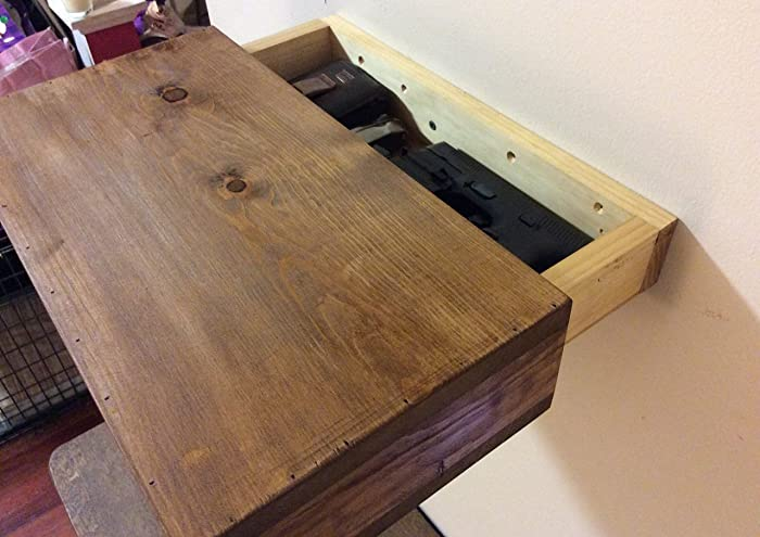 Outstanding Amazon Com Rustic Wood Floating Shelf With Hidden Download Free Architecture Designs Rallybritishbridgeorg