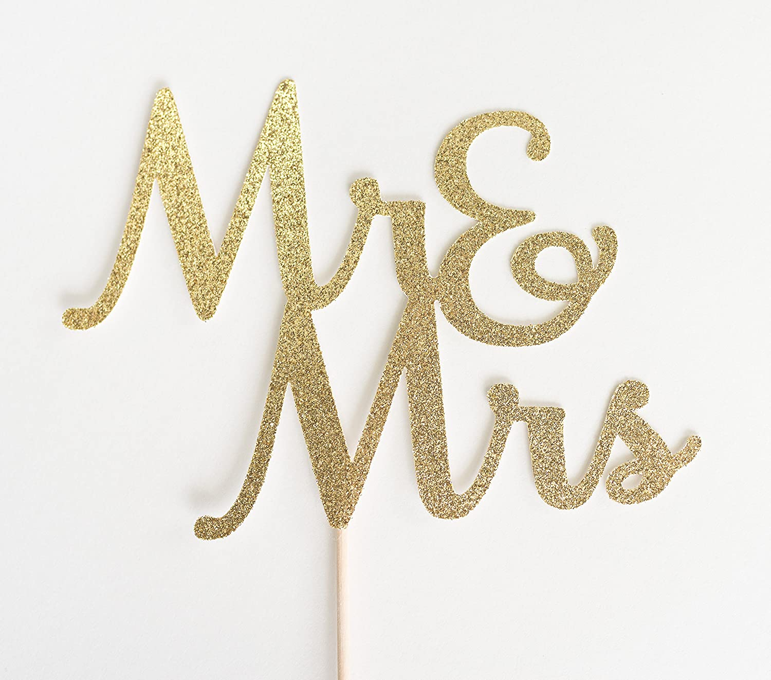 Gold Glitter Mr & Mrs Script Wedding Cake Topper, and, Rehearsal dinner, engagement party
