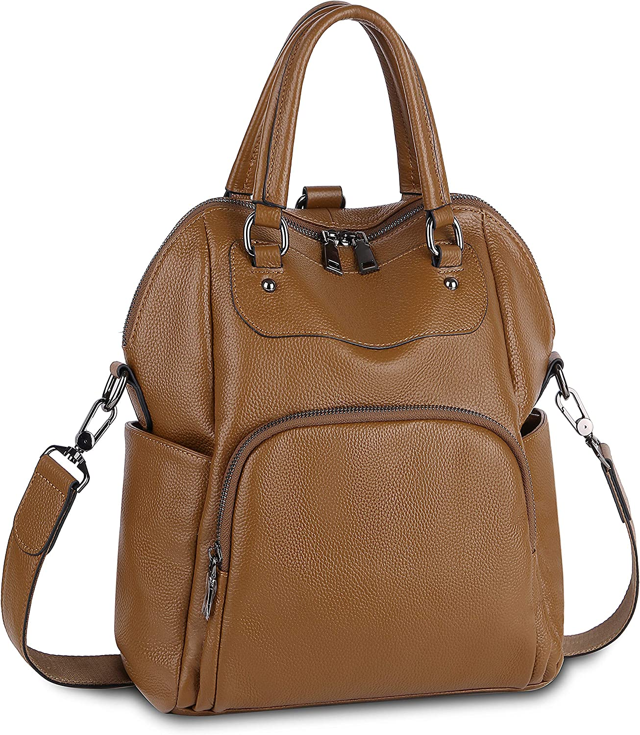 Leather Backpack Purse...