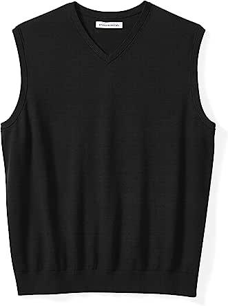 Charcoal Heather Essentials Mens Big /& Tall V-Neck Sweater Vest 2X Tall