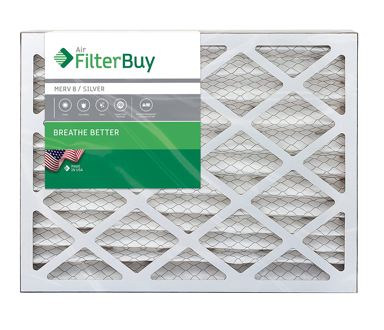 Filterbuy 16x25x4 Merv 8 Pleated Ac Furnace Air Filter Pack Of 4 Thermostat Are Connected To At The Furnacehere Is A Typical Wiring Filters Silver Replacement