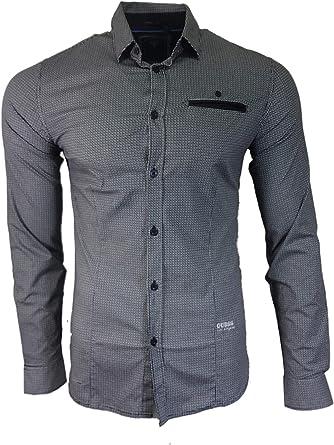 Guess - Camisa casual - para hombre negro S: Amazon.es: Ropa y accesorios
