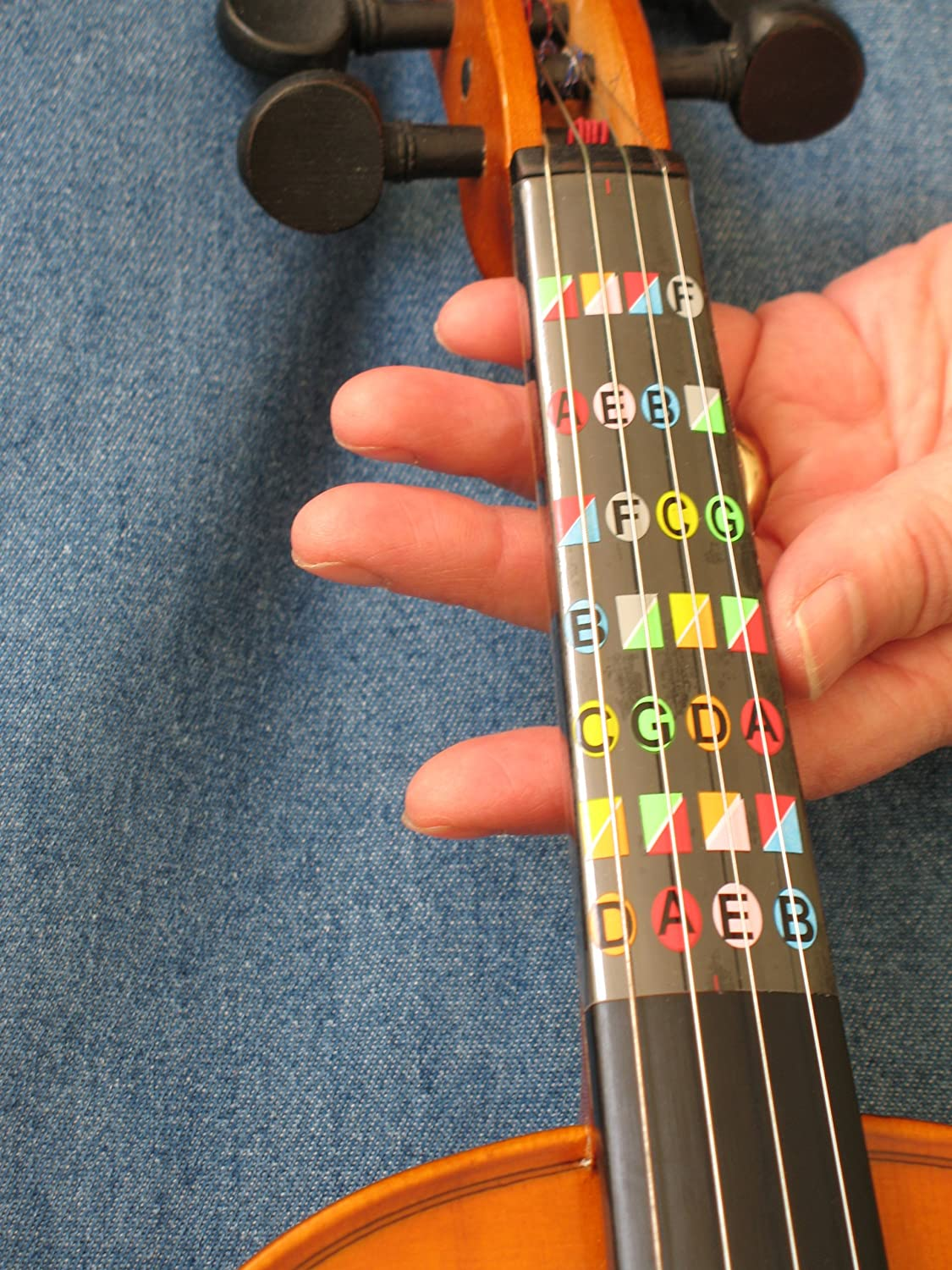 Amazoncom Fretless Finger Guide For 34 Size Violin Musical
