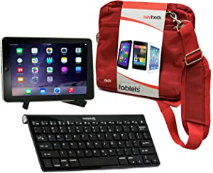 Navitech Converter Pack Including Multi OS Wireless Bluetooth Keyboard / Red Case Bag & Portable Stand For The Lenovo Tab A10 / Lenovo Yoga Red 10 / Lenovo IDEATAB S6000 Red / Lenovo Miix 10 / Lenovo THINKPAD Red 2 / Lenovo IDEATAB LYNX / Lenovo THINKPAD HELIX / Lenovo Yoga Red 10 HD+