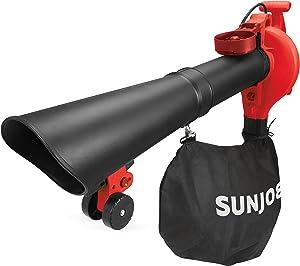 Sun Joe SBJ606E-GA-RED 14 Amp 250MPH 4-in-1 Electric Blower/Vacuum/Mulcher/Gutter Cleaner, RED