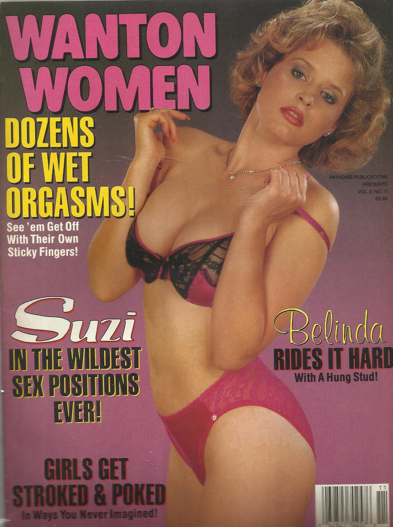 11 Suzi in the Wildest Sex Positions Ever! Belinda Rides It Hard with a  Hung Stud! Single Issue Magazine – 1988