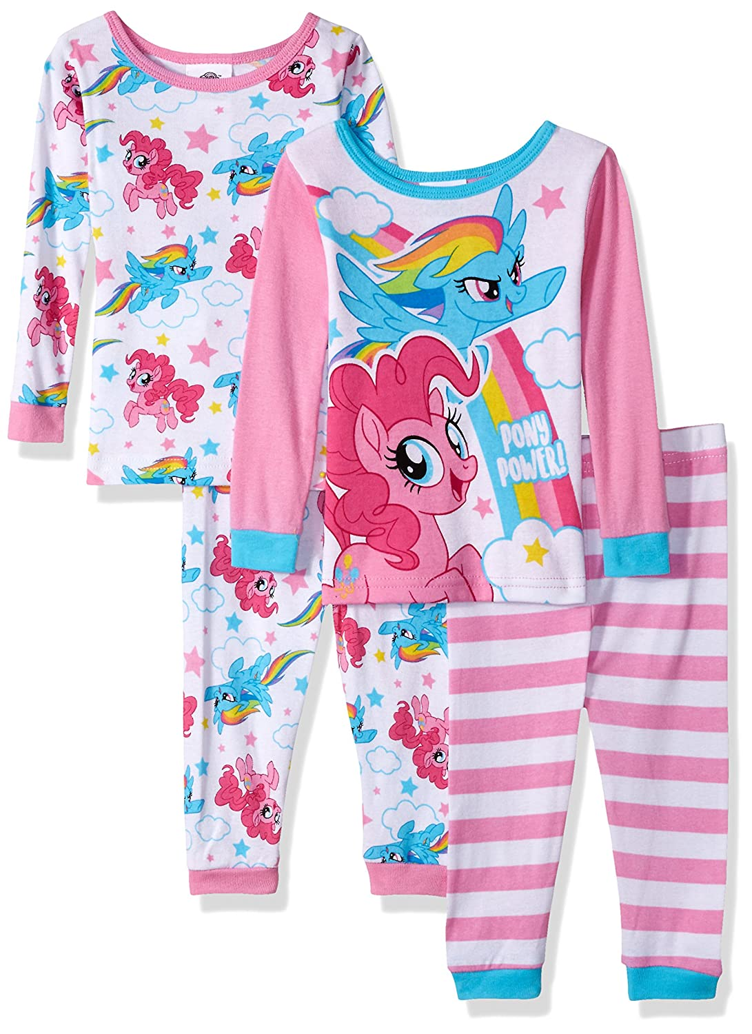 My Little Pony Baby-Girls Baby 4-Piece Cotton Pajama Set 21ML006VLLZA-P6