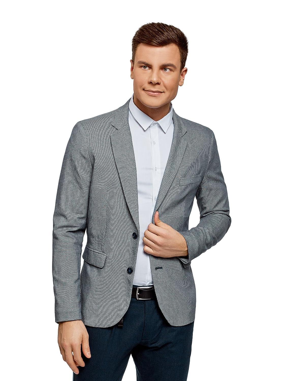 oodji Ultra Men's Cotton Blazer in Textured Fabric RIFICZECH s.r.o. 2L420190M