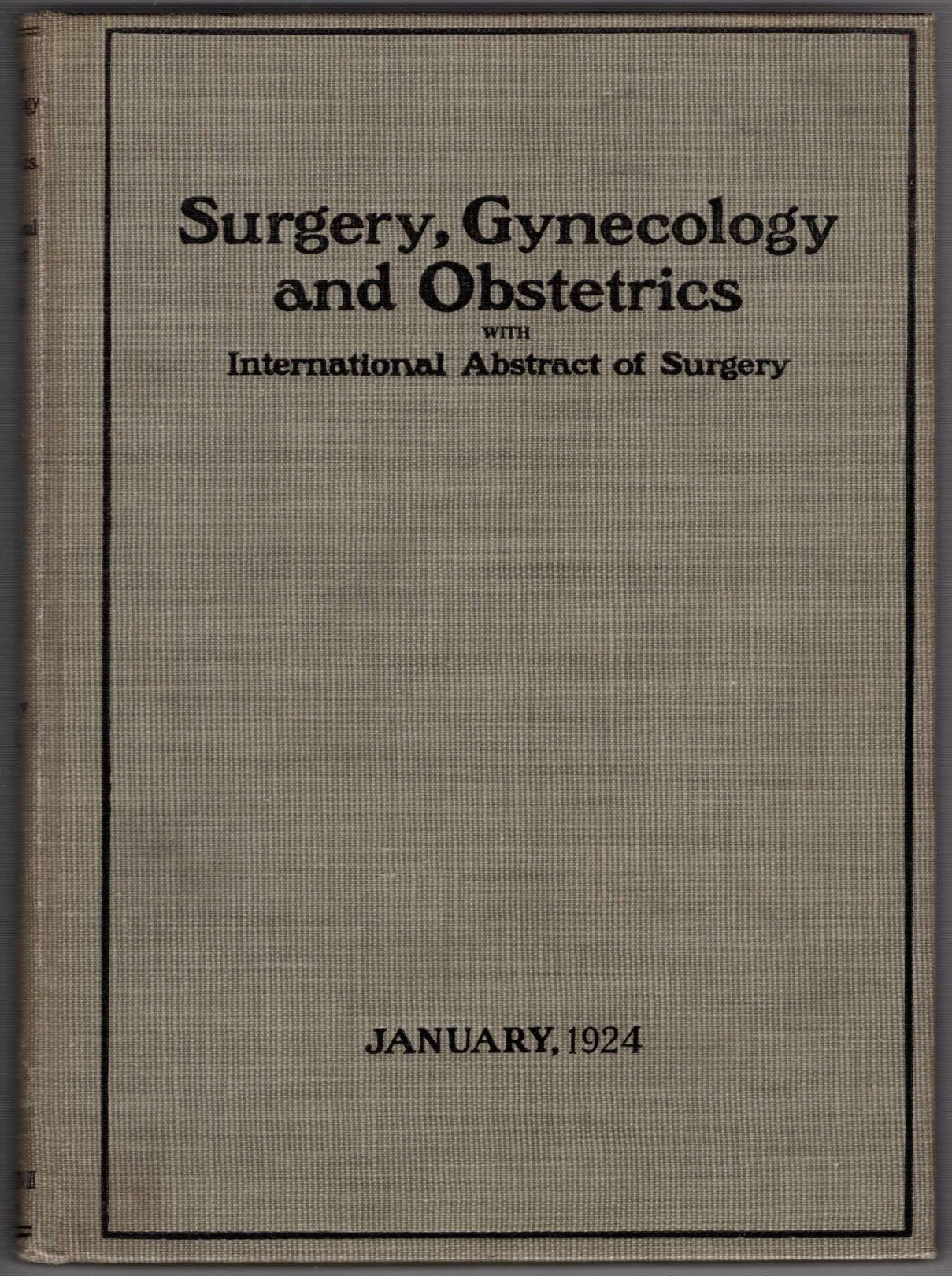 Surgery, Gynecology and Obstetrics with International