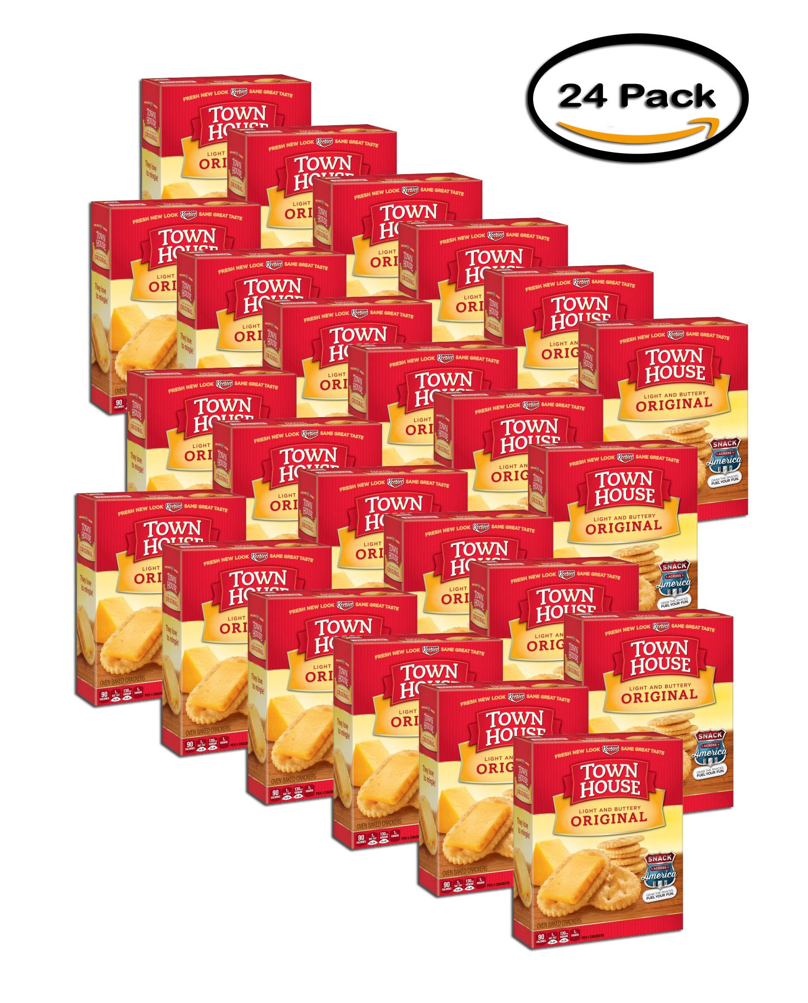 PACK OF 24 - Town House Crackers Original Light and Buttery, 13.8 OZ