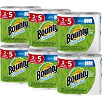 Bounty Quick-Size Paper Towels 12 Family Rolls (White)