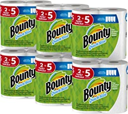 Bounty Quick-Size Paper Towels, 12 Family Rolls, White (Packaging May Vary)