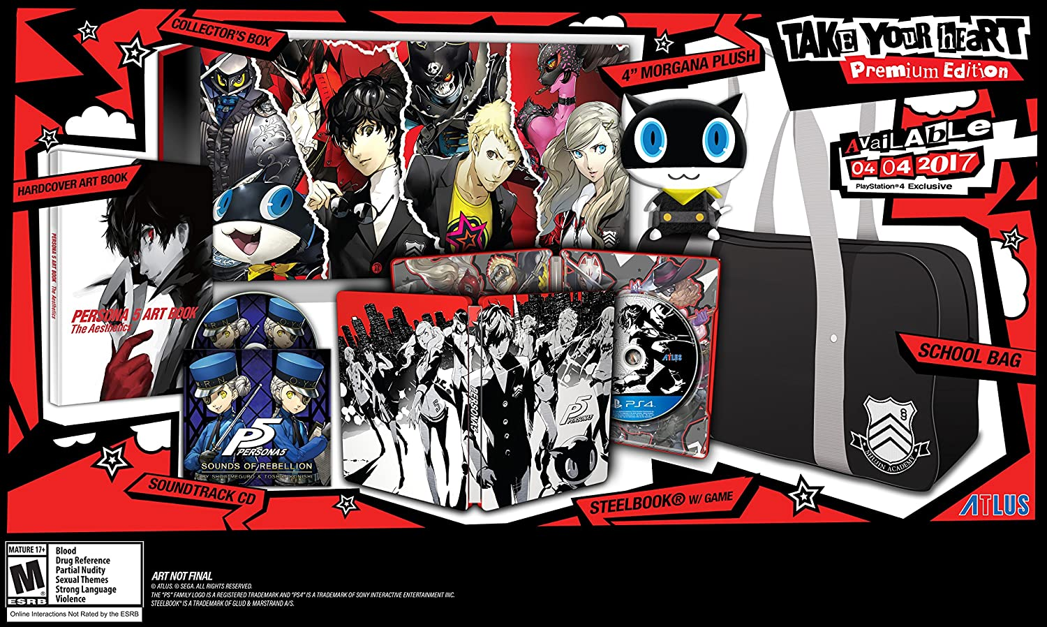 Original Game Cases & Boxes No Game Disc Persona 5 Ps4 Playstation Steelbook Launch Edition Case Only