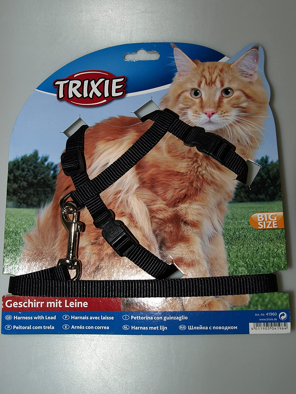 Trixie 41960 Cat Set of Harness and Lead for Large Cats Nylon (Big size)