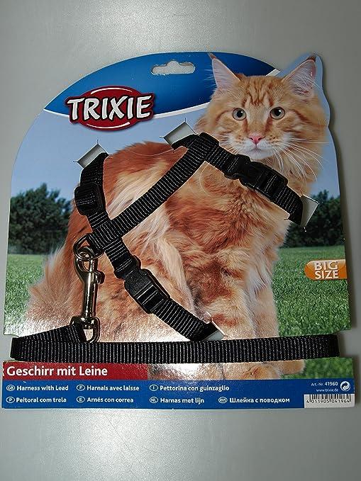 Trixie - Juego de arnés y Correa para Gatos Grandes, de Nailon