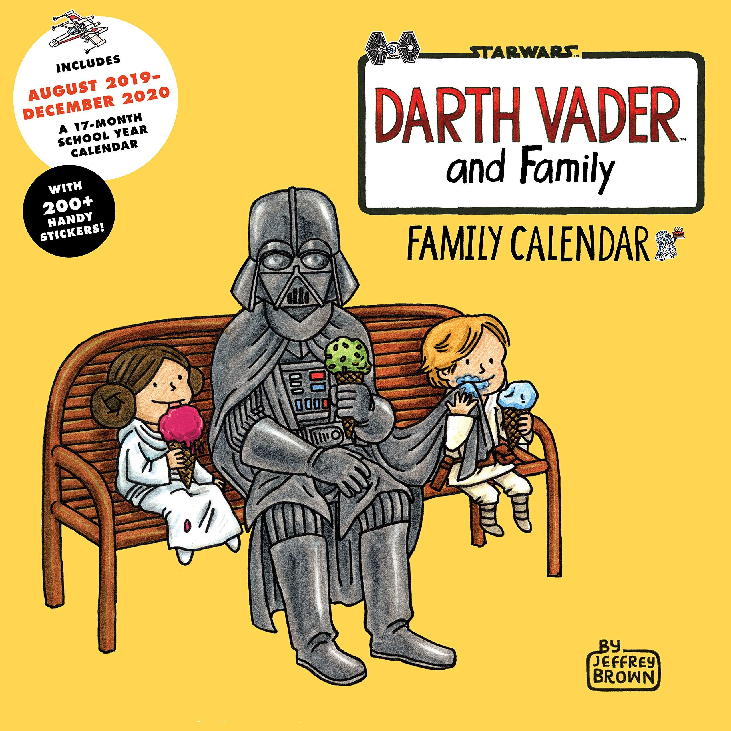Darth Vader and Family 2020 Family Wall Calendar: Amazon.es ...