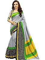 Glory Sarees Women's Silk Cotton Saree(zarna06_grey)