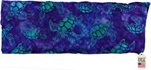 Hot or Cold Therapy Pack for Neck, Elbows, Knees. with Strap (Batik Turtle) - Joint Neck Pac