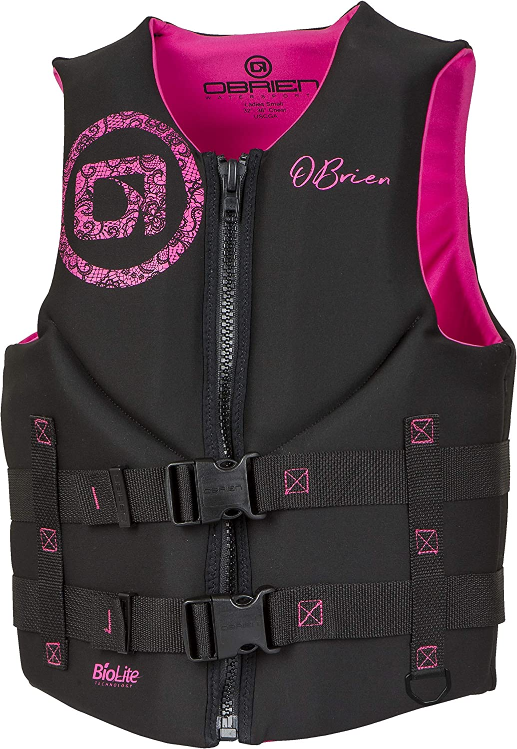 O'Brien Women's Traditional Neoprene Life Jacket, X-Small, Pink