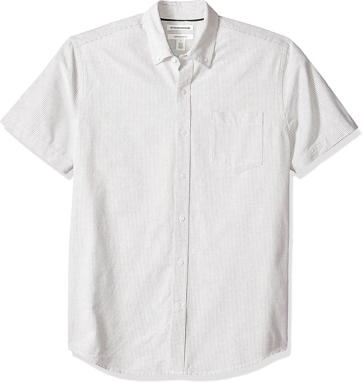 da uomo Camicia Oxford a maniche corte vestibilit/à standard Essentials con taschino