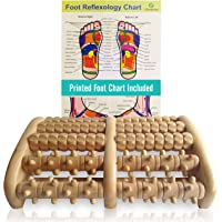 TheraFlow (XL) Dual Foot Massager Roller - Relax, Relieve Foot Pain, Plantar Fasciitis. 2018 Enhanced Model. Laminated Foot Chart and Detailed Instructions Included. Stress Relief. Relaxation Gift