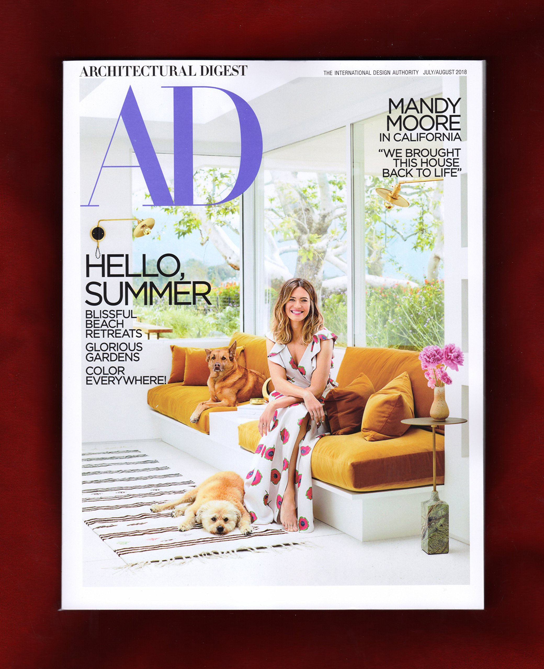 Read Online Architectural Digest Magazine (July/August, 2018) Mandy Moore Cover ebook