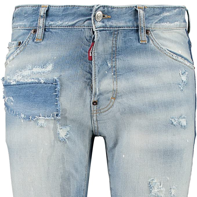 DSquared2 Cool Guy S74LA0663 S30144 470C Jeans Dsquared D2 Tapered Leg Slim  Fit: Amazon.co.uk: Clothing