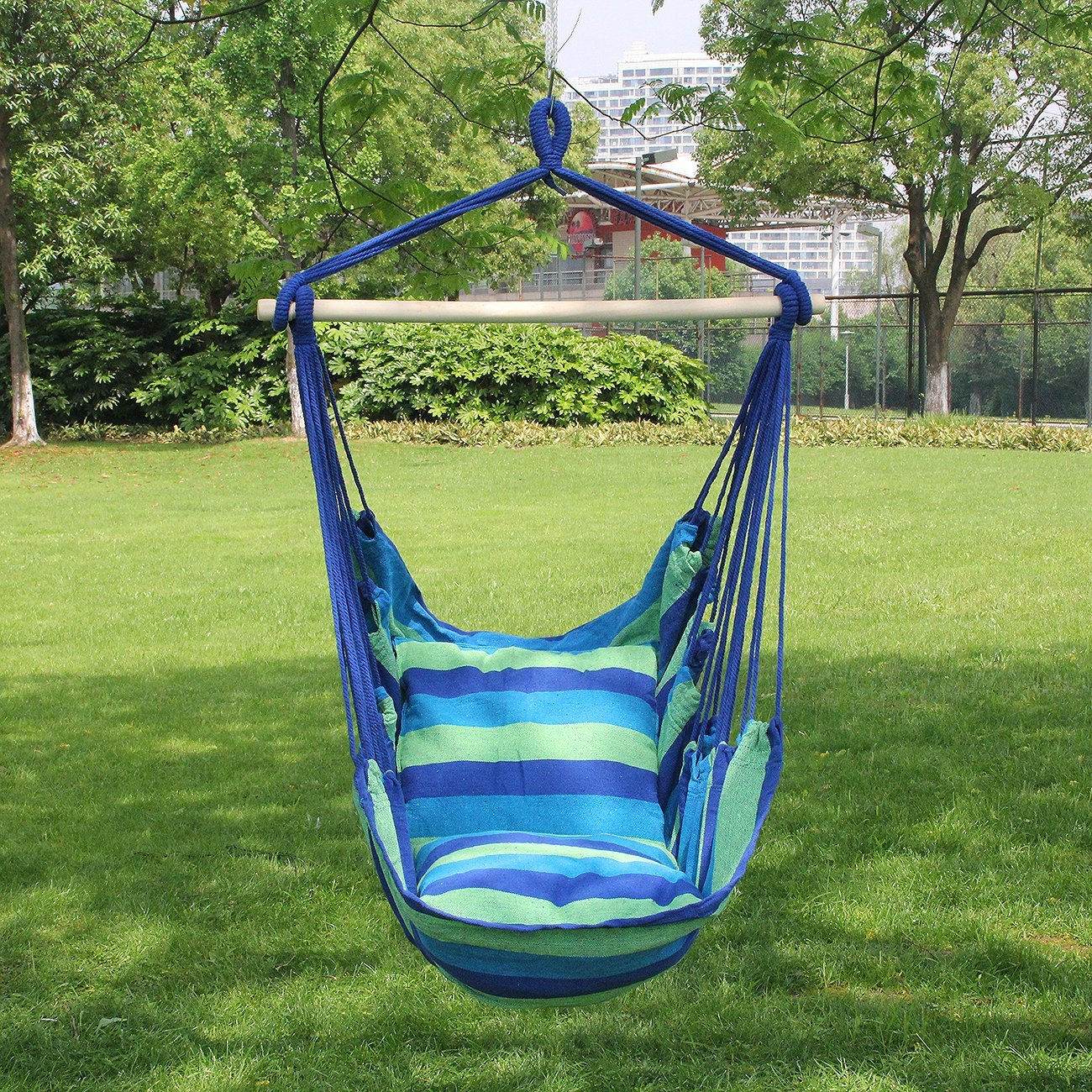 Amazon.com: Sorbus Hanging Rope Hammock Chair Swing Seat For Any Indoor Or  Outdoor Spaces  Max. 265 Lbs  2 Seat Cushions Included: Home Improvement